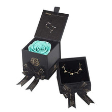 Eternal Roses® Tiffany Blue Gemini Astor Box & Necklace Bundle