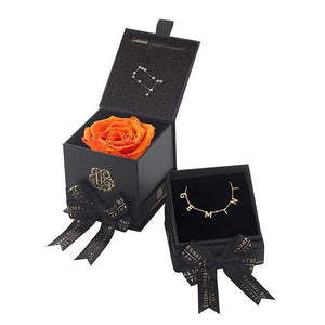 Eternal Roses® Sunset Gemini Astor Box & Necklace Bundle
