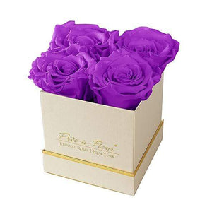 Eternal Roses® Gift Box Shimmery Gold / Orchid Lennox Gift Box