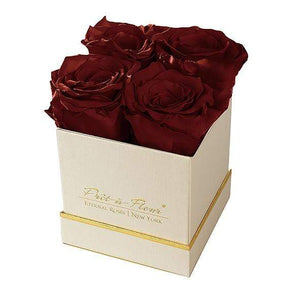 Eternal Roses® Gift Box Shimmery Gold / Wineberry Lennox Gift Box