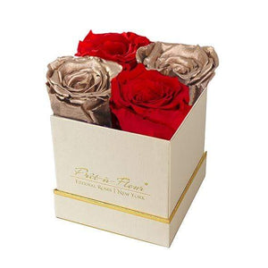 Eternal Roses® Gift Box Shimmery Gold / Holiday Cheer Lennox Gift Box