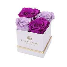 Eternal Roses® Gift Box White / Mystic Orchid Lennox Gift Box