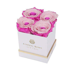 Eternal Roses® Gift Box White / Fuschia Lily Lennox Gift Box