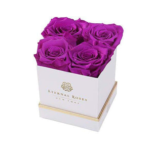 Eternal Roses® Gift Box White / Orchid Lennox Gift Box