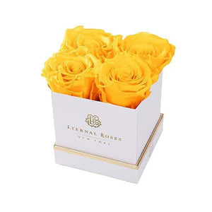 Eternal Roses® Gift Box White / Friendship Yellow Lennox Gift Box