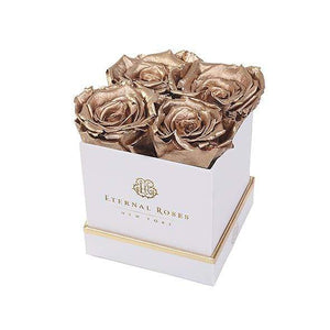 Eternal Roses® Gift Box White / Gold Lennox Gift Box