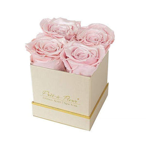 Eternal Roses® Gift Box Shimmery Gold / Pearly Pink Lennox Gift Box
