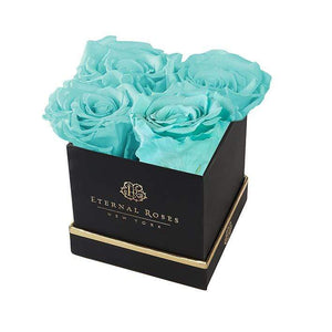 Eternal Roses® Gift Box Black / Tiffany Blue Lennox Gift Box