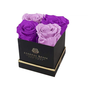 Eternal Roses® Gift Box Black / Mystic Orchid Lennox Gift Box