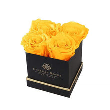 Eternal Roses® Gift Box Black / Friendship Yellow Lennox Gift Box
