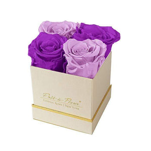 Eternal Roses® Gift Box Shimmery Gold / Mystic Orchid Lennox Gift Box