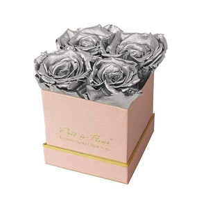 Eternal Roses® Gift Box Shimmery Pink / Silver Lennox Gift Box