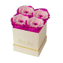 Eternal Roses® Gift Box Shimmery Gold / Fuschia Lily Lennox Gift Box