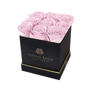 Eternal Roses® Gift Box Black / Blush Lennox Large Black Eternal Rose Gift Box
