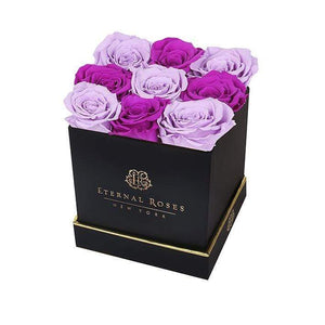 Eternal Roses® Gift Box Black / Mystic Orchid Lennox Large Black Eternal Rose Gift Box