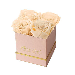 Eternal Roses® Gift Box Shimmery Pink / Champagne Lennox Small Gift Box - Shimmery Collection