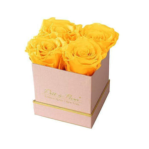 Eternal Roses® Gift Box Shimmery Pink / Friendship Yellow Lennox Small Gift Box - Shimmery Collection
