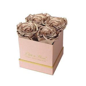 Eternal Roses® Gift Box Shimmery Pink / Gold Lennox Small Gift Box - Shimmery Collection