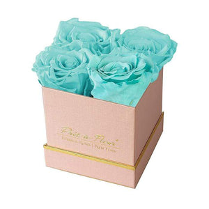 Eternal Roses® Gift Box Shimmery Pink / Tiffany Blue Lennox Small Gift Box - Shimmery Collection