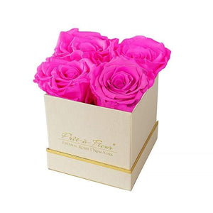 Eternal Roses® Gift Box Shimmery Gold / Hot Pink Lennox Small Gift Box - Shimmery Collection
