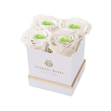 Eternal Roses® Gift Box White Mother's Day Lennox Gift Box in Chartreuse