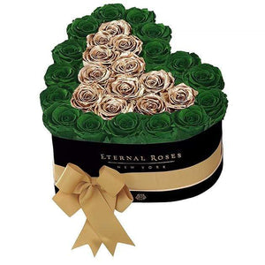 Eternal Roses® Black / Emerald Green Grand Chelsea Mezzo Eternal Rose Gift Box