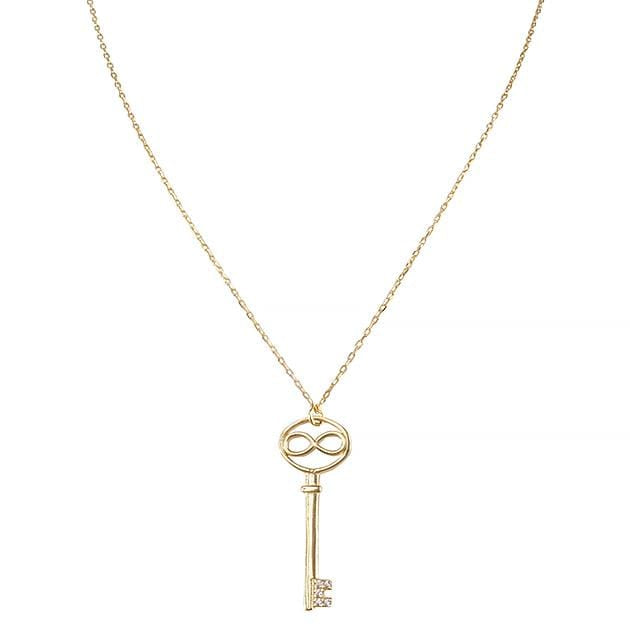Eternal Roses® Infinity Key Pave Necklace