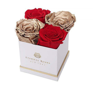 Eternal Roses® White Lennox Gift Box in Be Mine