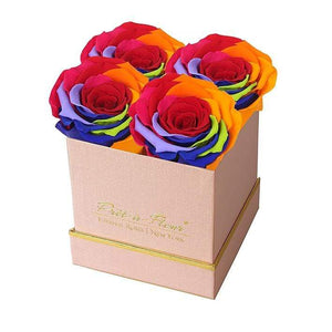 Eternal Roses® Lennox Gift Box Shimmery Pink in Rainbow Eternal Roses