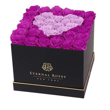 Eternal Roses® Black / Mystic Orchid Lennox Grand Amore Gift Box