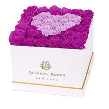 Eternal Roses® White / Mystic Orchid Lennox Grand Amore Gift Box