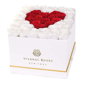 Eternal Roses® White / Sweetheart Lennox Grand Amore Gift Box