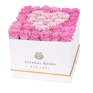 Eternal Roses® White / Forever Pink Lennox Grand Amore Gift Box