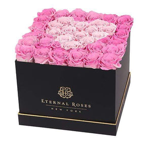 Eternal Roses® Black / Forever Pink Lennox Grand Amore Gift Box
