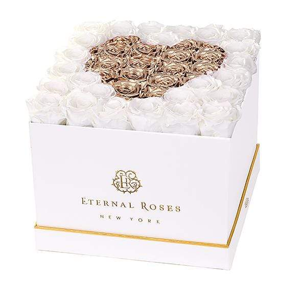 Eternal Roses® White / Baroque Lennox Grand Amore Gift Box