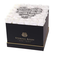 Eternal Roses® Black / Snow Drop Lennox Grand Amore Gift Box