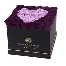 Eternal Roses® Black / Sugar Plum Lennox Grand Amore Gift Box