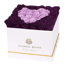 Eternal Roses® White / Sugar Plum Lennox Grand Amore Gift Box