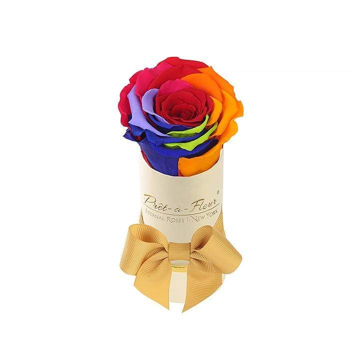 Eternal Roses® Liberty Gift Box Shimmery Gold in Rainbow Eternal Rose