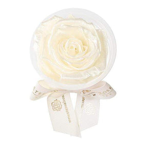 Eternal Roses® Pearly White Mini Eternal Rose Party Favor Set of 4