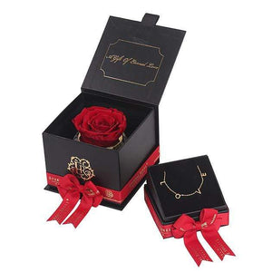 Eternal Roses® Scarlet Mini Gift Box & Necklace Bundle