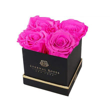 Eternal Roses® Black Mother's Day Lennox Gift Box Small in Hot Pink
