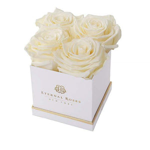 Eternal Roses® White / Canary Mother's Day New Limited Edition Lennox Small Gift Box