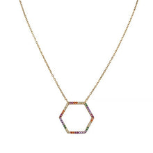 Eternal Roses® Multicolor Stone Hexagon Necklace
