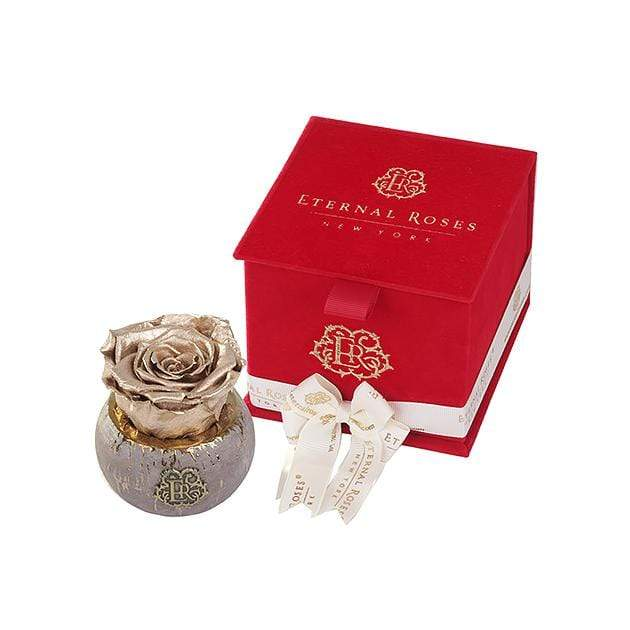 Eternal Roses® Red Velvet Gift Box in Gold