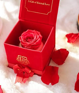 Eternal Roses® Red Velvet Gift Box with FREE Petal Box