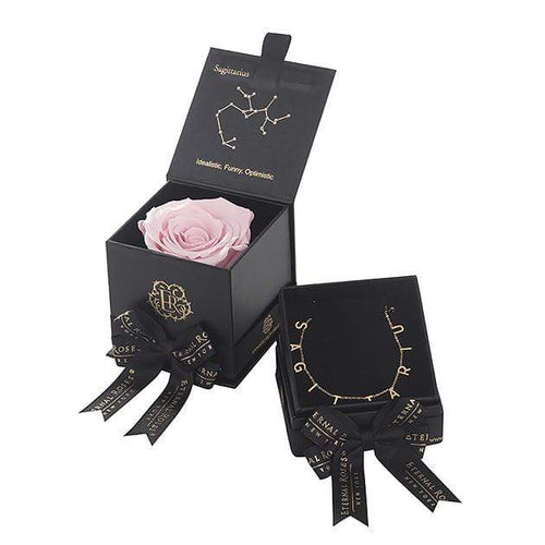 Eternal Roses® Blush Sagittarius Astor Box & Necklace Bundle