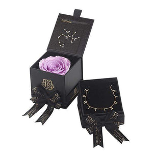 Eternal Roses® Lilac Sagittarius Astor Box & Necklace Bundle