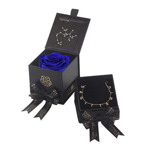 Eternal Roses® Azzure Sagittarius Astor Box & Necklace Bundle