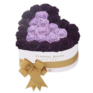 Eternal Roses® White / Sugar Plum Serafina Mezzo Eternal Rose Gift Box - NEW